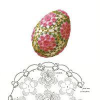 Вязаные крючком яйца