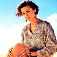 Блуза-поло с филейным узором