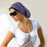 Ажурная шапка — бини, связанная крючком