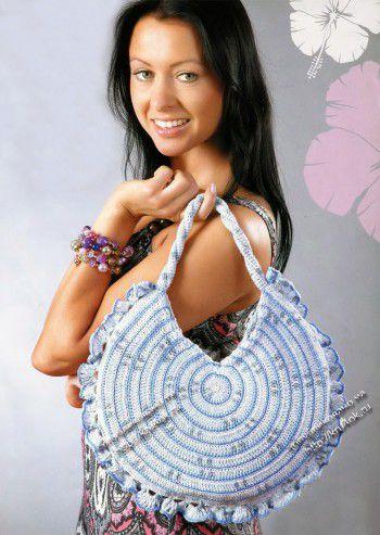 Большая круглая сумочка