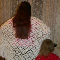 Детская и взрослая шали