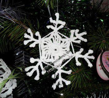 Вязание крючком снежинки и прихваток