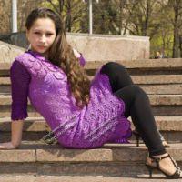 Фиолетовое платье — работа Алены Глущенко