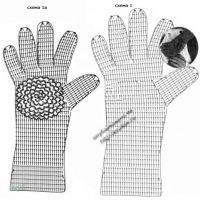 Схема вязания перчаток крючком