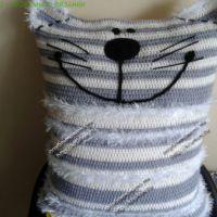 Вязаная подушка — кот «Матраскин»