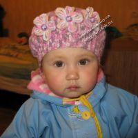 Детский берет — работа Марины Коженовой