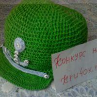 Зеленая кепка для мальчика — работа Ирины