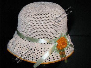 Шляпка для девочки 8 лет. Вязание крючком.