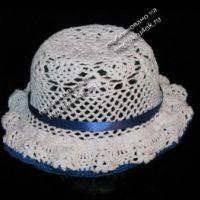 Ажурная шляпка для девочки