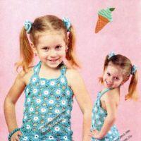 Пляжное платье для девочки из мотивов