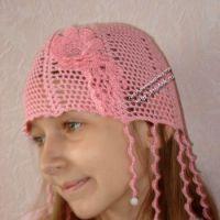Летняя шапочка для девочки «ЗАВИТУШКИ»