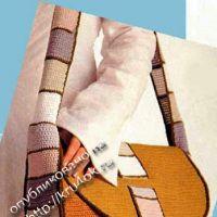 Вязаная сумочка «через плечо»