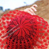 Ажурная шляпа крючком