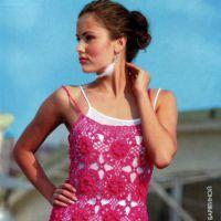Ажурная туника — платье
