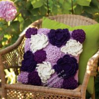 Цветочный чехол для подушки