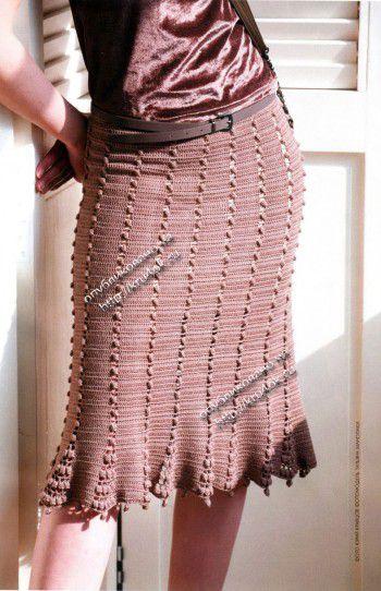 Женская юбка, связанная