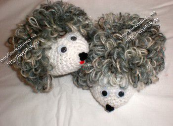 Children's slippers - hedgehogs, the work of Irina Krasilnyuk