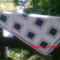 Детские пледы из бабушкиного квадрата — работы Тамары
