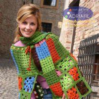 Цветная накидка и шарф
