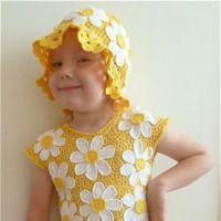 Платье и шапочка «Ромашки»
