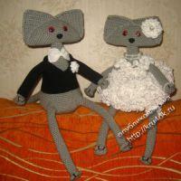 Вязаные игрушки — работы Елены