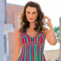 Полосатое платье — сарафан