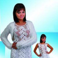Белоснежный комплект: платье и болеро