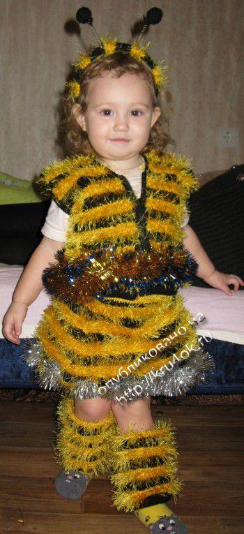 Новогодний костюм Пчелка. Вязание крючком.