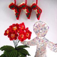 Новогодний натюрморт: цветы и ангел