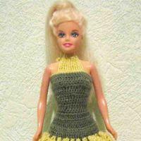 Вязаные платья для Барби
