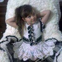 Ажурное платье для девочки 6 лет