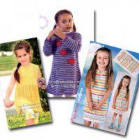 Вязаные спицами детские платья со схемами и описанием