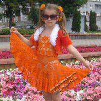 Комплект для девочки «Оранжевое лето»