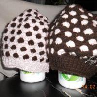Вязаные крючком шапки — горошки