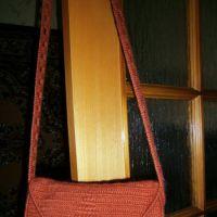 Вязаная сумка из мохера