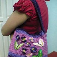 Вязаные сумки — работы Анны