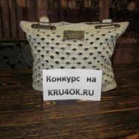 Вязаная крючком сумочка – работа Резеды