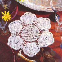 Салфетка с цветочными розетками