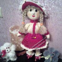 Вязаная кукла — работа Галины Водолазовой