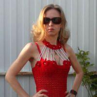Вязаные крючком платья — работы Тарасовой Елены