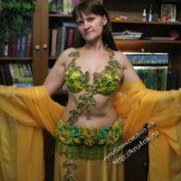 Костюм для арабских танцев — «Дыхание весны»