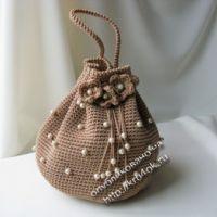 Маленькая сумочка - кисет - работа Ольги