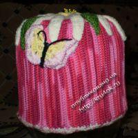 Зимняя шапочка «ромашка»