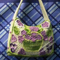 Вязаные сумочки – работы Галины