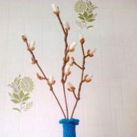 Вязаные цветы - работы Анны