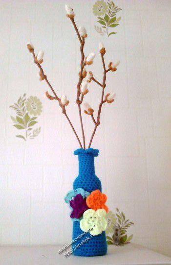 Вязаные цветы – работы Анны. Вязание крючком.
