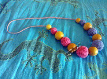 Вязаные слинго – бусы – работы Марии. Вязание крючком.