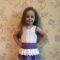 Платье для девочки — работа Наталии