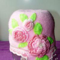 Весенняя шапочка для девочки 3-5 лет