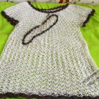 Вязаное платье — работа Наташи